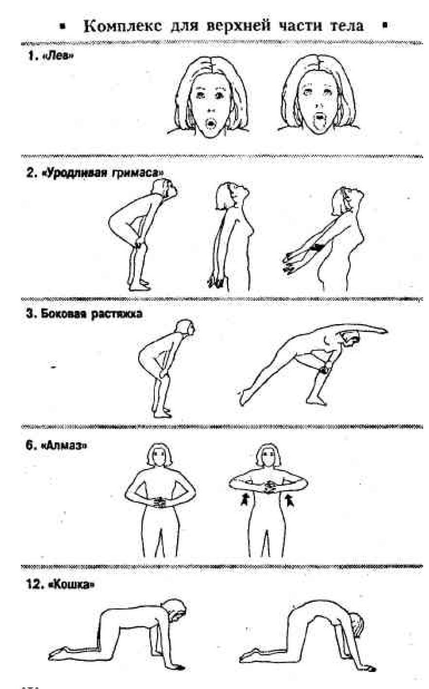 Комплекс упражнений бодифлекса в картинках