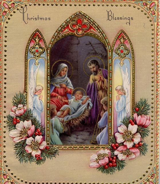старинные открытки с католическим рождеством несколько раз